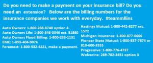 Billing Phone Numbers